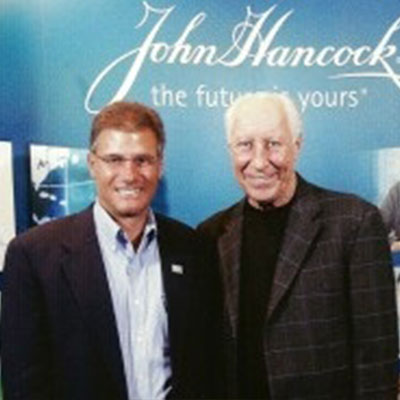 Tom and NFL Hall of Famer Fred Bilitnikoff