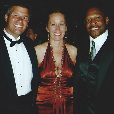 Tom and Kathy Breiter with two time Heisman Trophy winner Archie Griffin