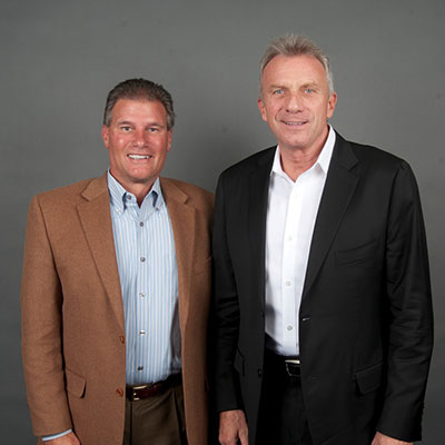 Tom with the great NFL Joe Montana